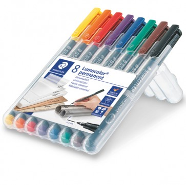Pennarello Astucci Lumocolor Permanent 318  - punta 0,6mm  - 8 colori - Staedtler
