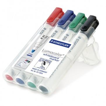 Pennarelli Lumocolor whiteboard 351 - astuccio 4 colori - tratto 2,0mm - Staedtler