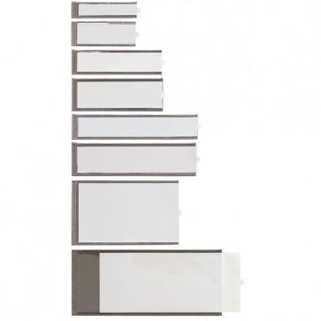 Portaetichette adesive Ies B3 - 24x124 mm - grigio - Sei Rota - conf. 6 pezzi