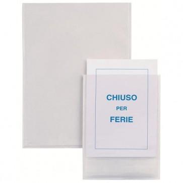 Buste autoadesive Iesti - PVC - 21x29,7 cm - trasparente - Sei Rota - conf. 5 pezzi