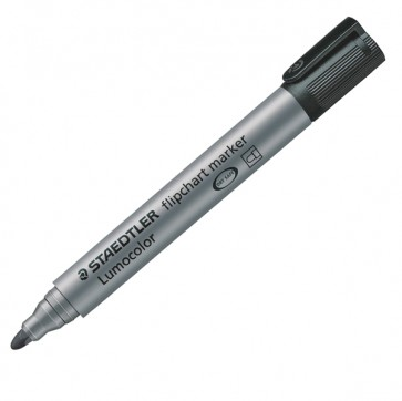 Marcatore a base d'acqua Lumocolor Flipchart 356  - punta tonda 2,0mm - nero - Staedtler