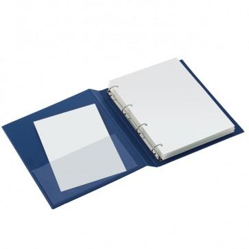 Raccoglitore Sanremo 2000 - 4 anelli a D 25 mm - dorso 4 cm - 22x30 cm - blu - Sei Rota
