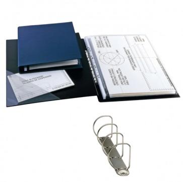 Raccoglitore Sanremo 2000 - 4 anelli a D 25 mm - dorso 4 cm - 30x42 cm (libro) - nero - Sei Rota