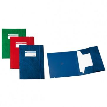 Cartellina 3 lembi Archivio 3L F - con elastico - Colpan® - 25x35 cm - rosso - Sei Rota