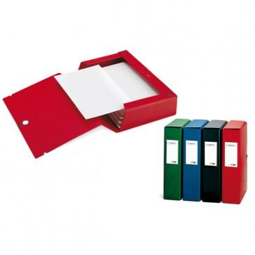 Scatola archivio Scatto - dorso 8 cm - 25x35 cm - blu - Sei Rota