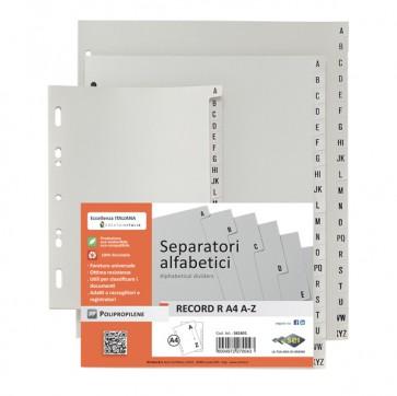 Separatore alfabetico A/Z Record R - PPL - 15x21 cm - A5 - grigio - Sei Rota