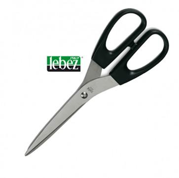 Forbici - 21 cm - impugnatura simmetrica - lama in acciaio inox - nero - Lebez