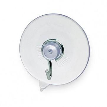 Ventose - diametro 4 cm - gancio in metallo - trasparente - Lebez - conf. 144 pezzi
