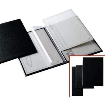 Portamenù M - 18x24 cm - PVC - nero - 2+2 tasche - Sei Rota