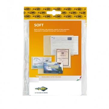 Buste a sacco Soft - PPL - 35x50 cm - liscio - trasparente - Sei Rota - conf. 10 pezzi