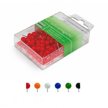 Spilli cartografici a sfera - rosso - Lebez - scatola 100 pezzi