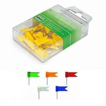 Spilli a bandierina - bianco - Lebez - scatola 20 pezzi