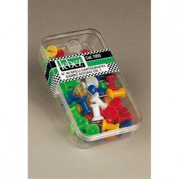 Spilli cartografici a clessidra - colori assortiti - Lebez - scatola 40 pezzi