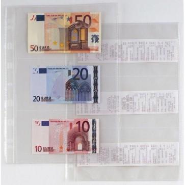 Buste forate Atla Porta Banconote e Scontrini - 6 Spazi - PPL - 21x29,7 cm - trasparente - Sei Rota - conf. 10 pezzi