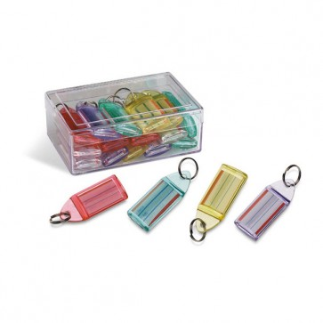 Targhette portachiavi - colori assortiti - Niji Italiana - conf. 15 pezzi