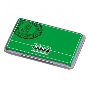 Cuscinetto per timbri - 12,5x8,5 cm - nero - Lebez