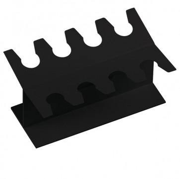 Portatimbri lineare - metallo - 8 posti - nero - Lebez