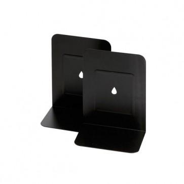 Coppia reggilibri - metallo - 13,5x17,5 cm  nero - Lebez
