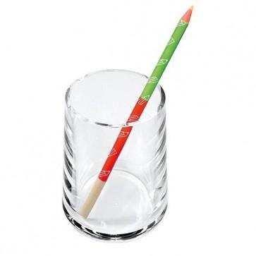 Portapenne a bicchiere - 7x10 cm - acrilico - trasparente - Lebez