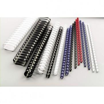 Dorsi spirale - 21 anelli - 8 mm - rosso - GBC - scatola 100 pezzi