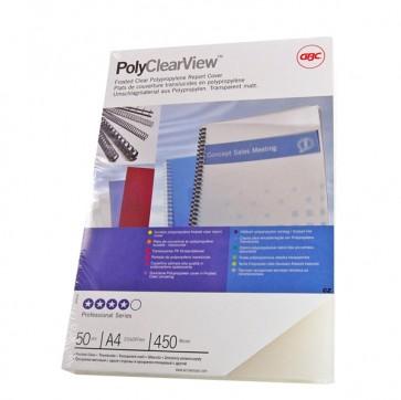 Copertine PolyClear View - A4 - 300 micron - PPL - neutro trasparente opaco - GBC - scatola 100 pezzi