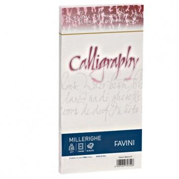 Calligraphy Millerighe Rigato Favini - bianco - buste - 11x22 cm - 100 g - A570424 (conf.25)