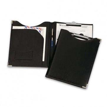 Portablocco in similpelle con tasca - nero - 24 x 31cm - Niji Italiana