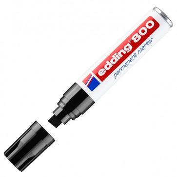 Marcatore Permanente Edding 800 - punta 4,0-12,0mm - nero - Edding