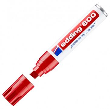 Marcatore Permanente Edding 800  - punta 4,0-12,0mm - rosso - Edding