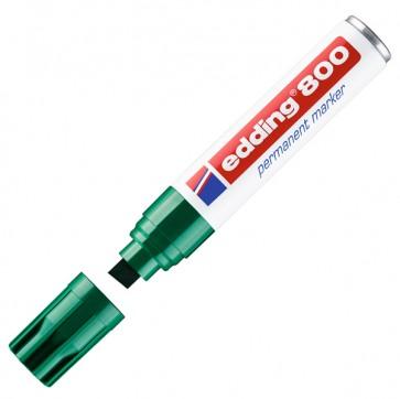 Marcatore permanente Edding 800 - punta da 4,0-12,0mm - verde - Edding