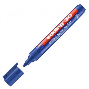 Marcatore 30 a base d'acqua - punta tonda da1,5mm a 3,0mm  - blu - Edding