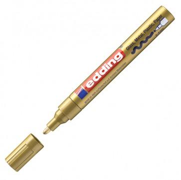 Marcatore permanente a vernice 750 - punta da 2,0 a 4,0mm - oro - Edding