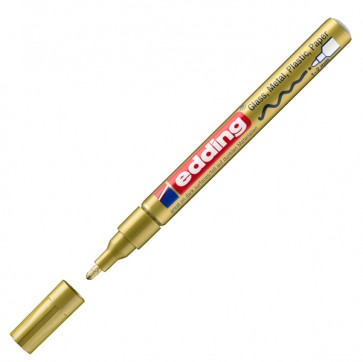 Marcatore permanente a vernice 751 - punta da 1,0 a 2,0mm - oro - Edding