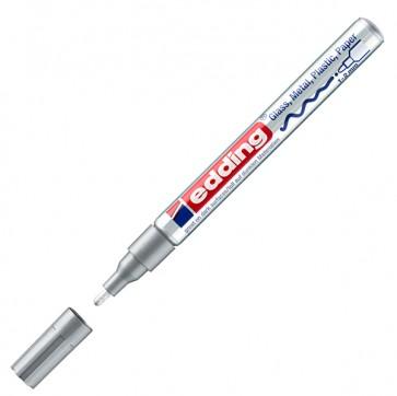 Marcatore permanente a vernice 751 - punta da 1,0 a 2mm - argento - Edding