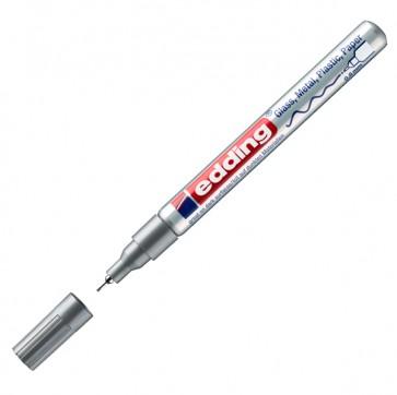Marcatore permanente a vernice 780  - punta  0,8mm - argento - Edding