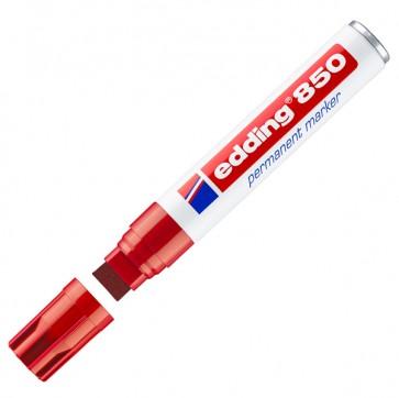 Marcatore permanente Edding 850 - punta 5,0-16,0mm - rosso - Edding