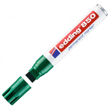 Marcatore permanente Edding 850 - punta da 5,0-16,0mm - verde  - Edding