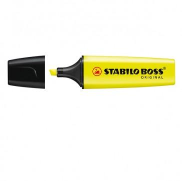 Evidenziatore Stabilo Boss Original  - punta a scalpello - tratto 2,0mm-5,0mm - giallo - Stabilo