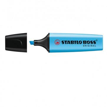 Evidenziatore Stabilo Boss Original - punta a scalpello - tratto  2,0mm-5,0mm - blu - Stabilo