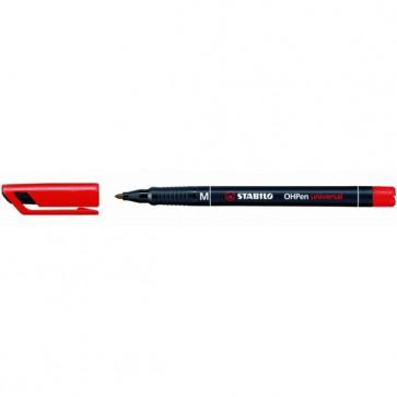 Pennarello OHPen universal permanente 843  - punta media 1,0mm - rosso - Stabilo