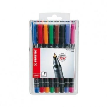 Pennarello OHPen universal permanente 842  - punta fine 0,7mm - astuccio 8 colori - Stabilo