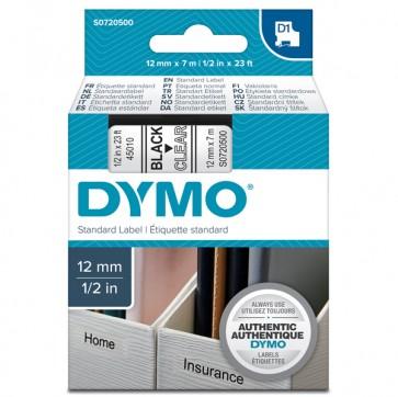 Nastro D1 450100 - 12 mm x 7 mt - nero/trasparente - Dymo