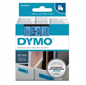 Nastro D1 450160 - 12 mm x 7 mt - nero/blu - Dymo