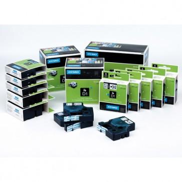 Nastro D1 450190 - 12 mm x 7 mt - nero/verde - Dymo