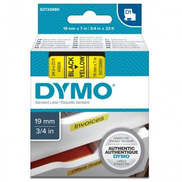 Nastro D1 458080 - 19 mm x 7 mt - nero/giallo - Dymo
