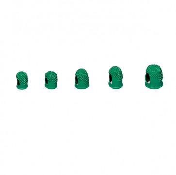 Ditali Läufer - diametro 19 mm - caucciù - Lebez - verde - conf. 10 pezzi