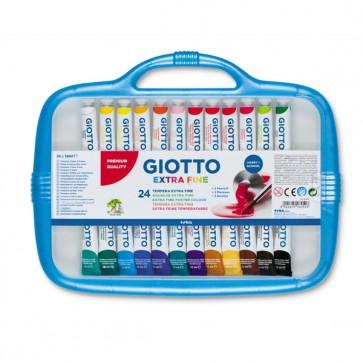 Astucci tubi tempere - 12ml - colori assortiti - Giotto - box da 24 tubetti