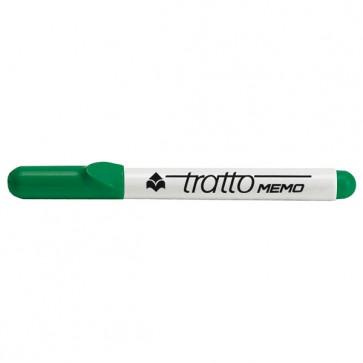 Pennarello a secco Tratto Memo per lavagne cancellabili - punta conica - tratto 2,5mm - verde - Tratto