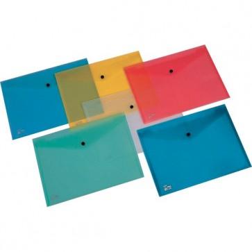 Buste con bottone Pull King Mec - A4 - PPL - azzurro - 00111316 (conf.5)
