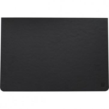 Sottomano in pelle ecologica Orna - 49,5x34 cm - nero - 0743CLA1000